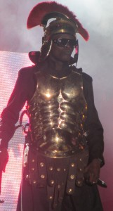 Chameleone dressed as a Roma Gladiator worrior