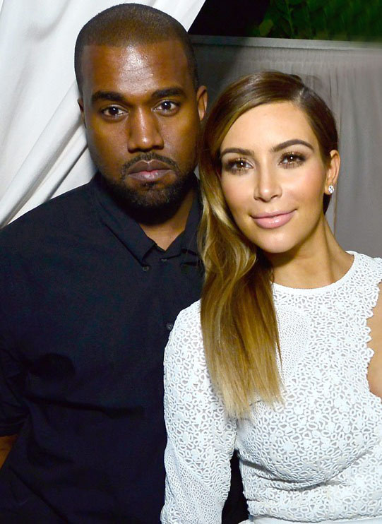 Kanye and Kim-Getty image