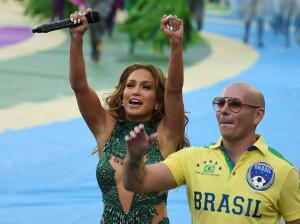 worldcup JLo and Pitbull