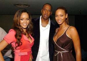 Rihanna, Jay Z and Beyonce
