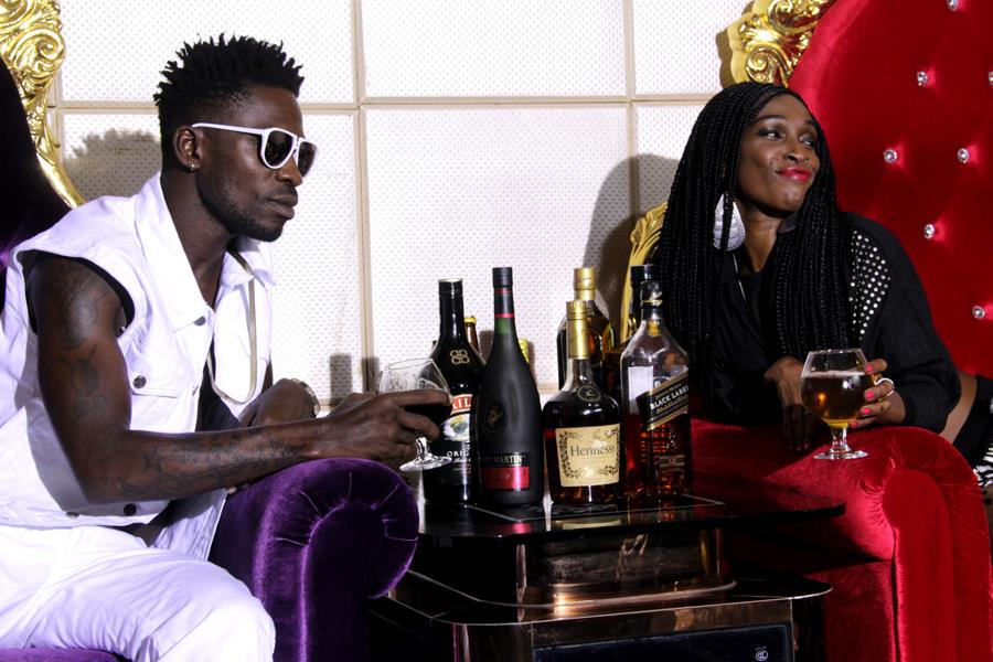Bobi Wine on set with Patra