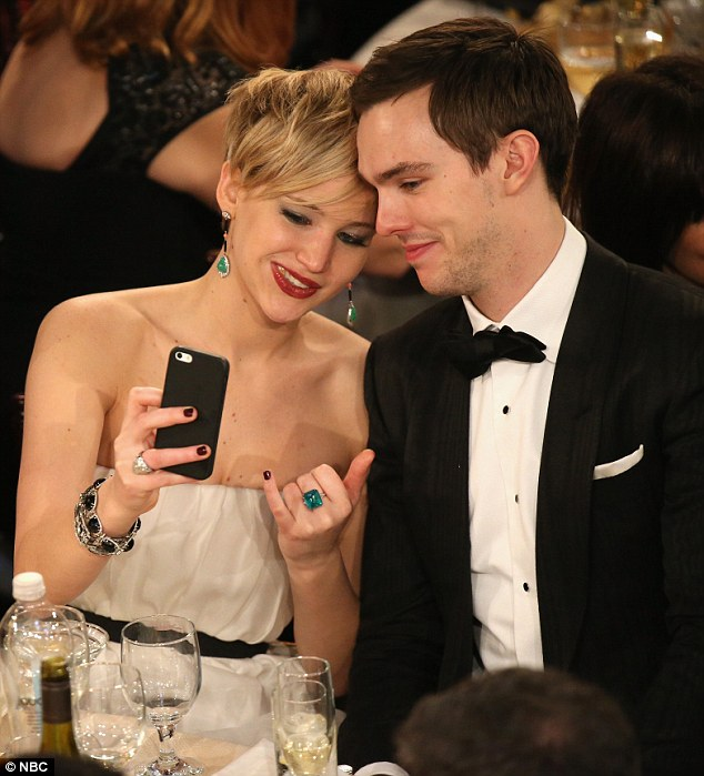 Jennifer with her ex beau Nicholas Hoult
