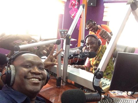 Patrick Salvado during a radio interview in Ghana