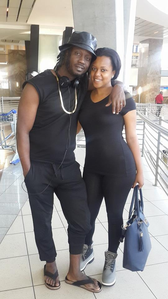 Bebe Cool with wife Zuena