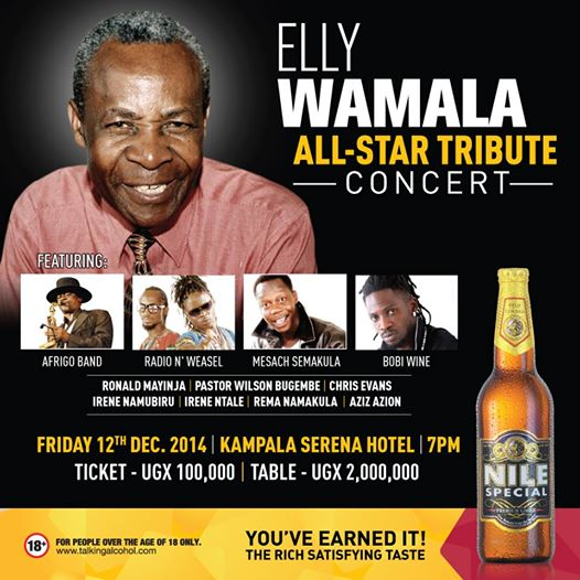 Elly Wamala official concert poster