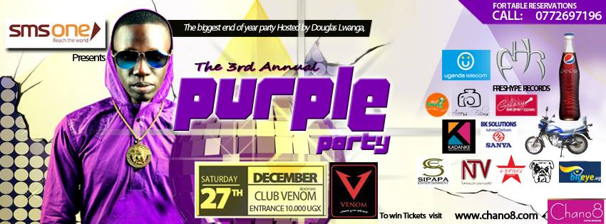 Official poster for the Purple Party