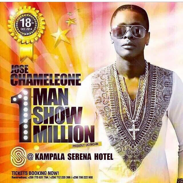 Jose Chameleone's One man One million show poster