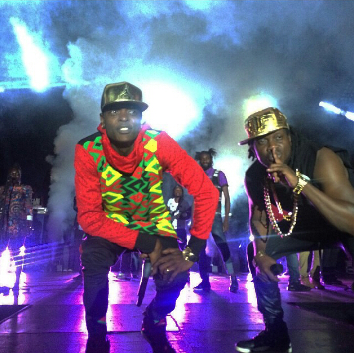 Jose Chameleone and Bebe Cool on Stage at the Tondeka E'kiwatule concert