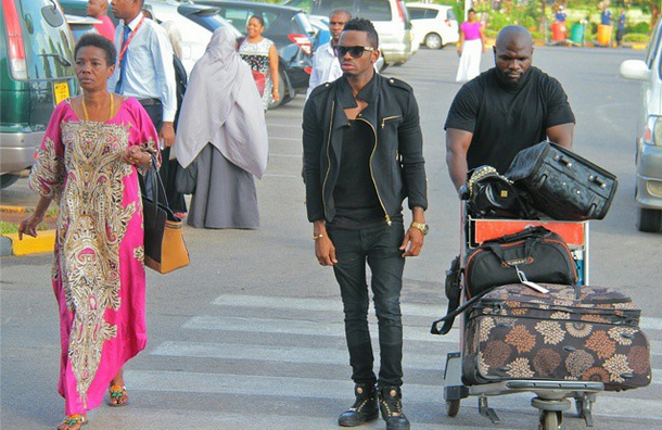 Diamond Platnumz setting off for Uganda