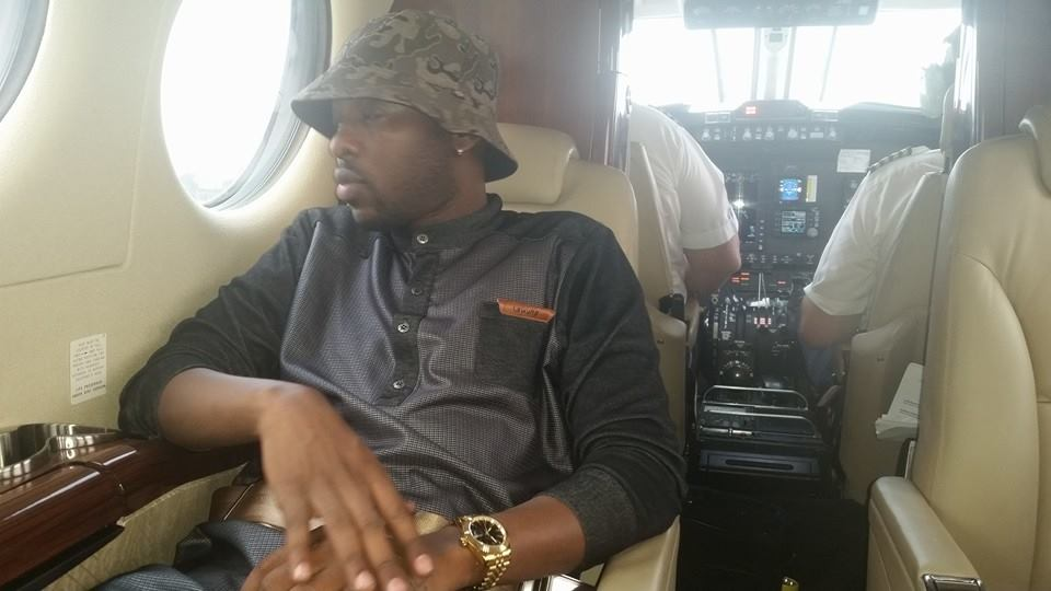Eddy Kenzo travels on a private Jet