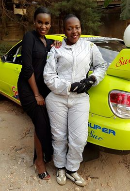 Juliana Kanyomozi with Suzan Muwonge