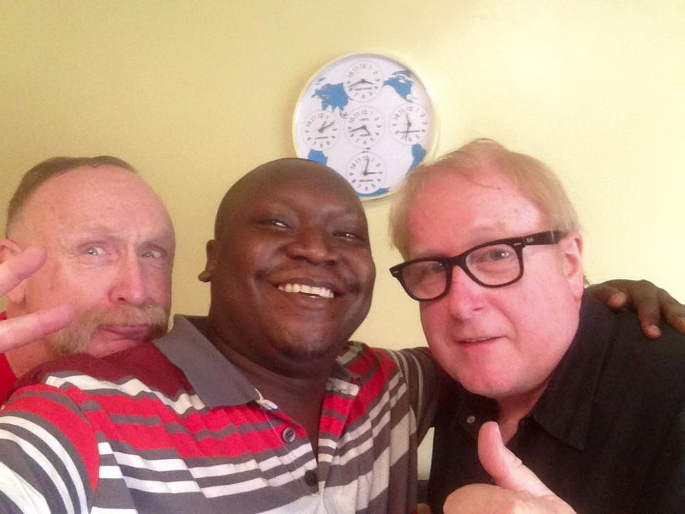 The selfie moment: Patrick Salvado and the directors.