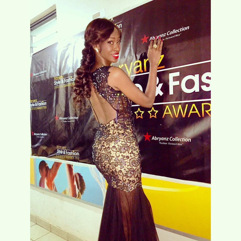 Judith Heard at the Abryanz Fashion awards
