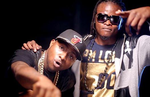 Pallaso and Davido on set of their twatoba song