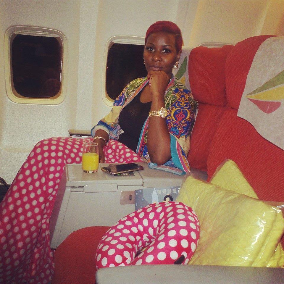 Desire Luzinda on board Ethiopian Airlines