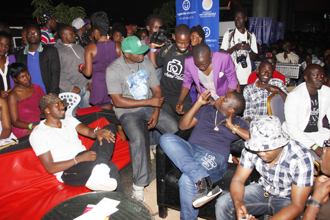 Ivan Ssemwanga of Rich Gang chats with Douglas Lwanga
