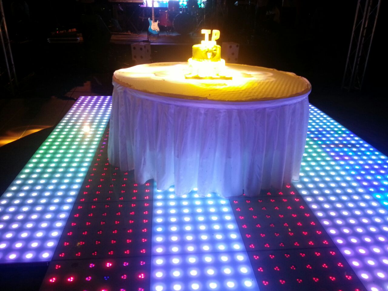 Lights, camera, action. The cake was definitely eye catching