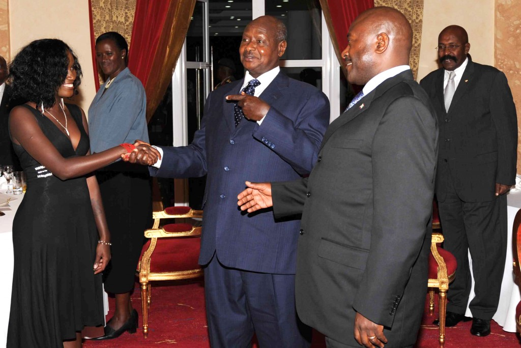 Museveni couldn't believe her vocals, he had to introduce her to President Nkuruniziza