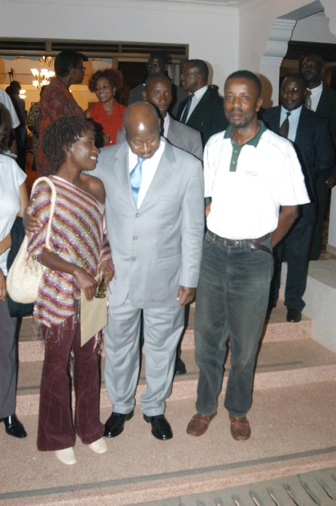 President Museveni listens to Juliana.