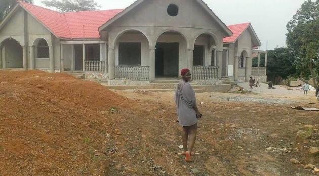 Desire Luzinda's massive house.