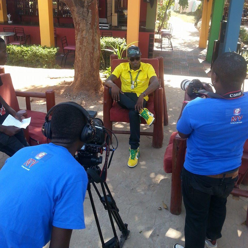 Pallaso being interviewed by NTV Uganda