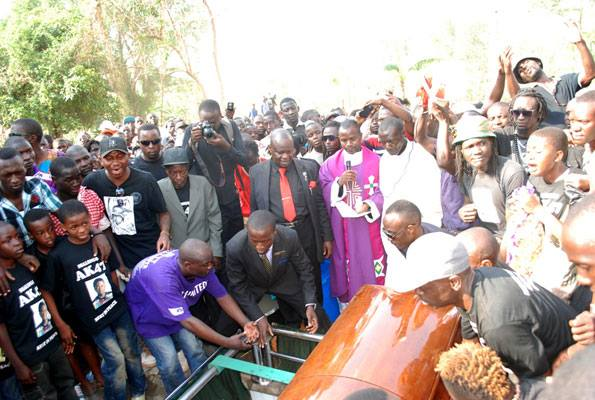 AK47 laid to rest yesterday (photo by Daily Monitor)