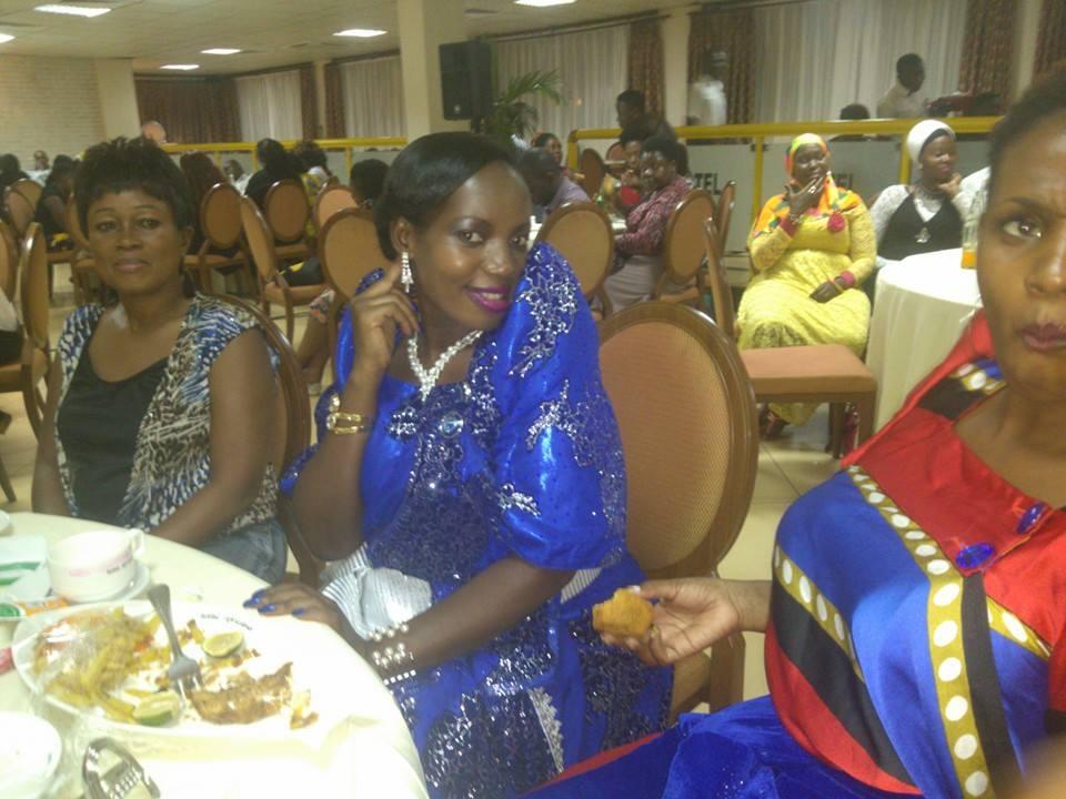 Halima Namakula (left) was among the guests