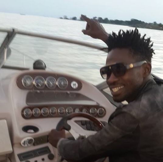 Bobi Wine was on his boat when he said so.