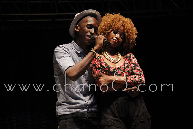Former Airtel Trace Music star Bruno K performs Twesana while Sheebah acts it out