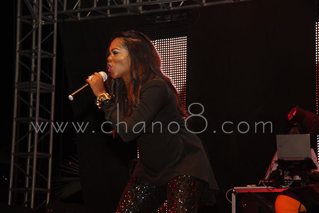 Tiwa Savage performs at Airtel Inspiring Women concert