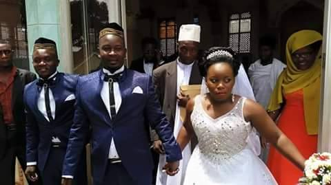 Stecia Mayanja after tying the knot