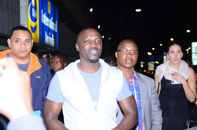 Akon arrives in Kenya for Africa Airtel Trace music stars grand finale (Photo from Google)