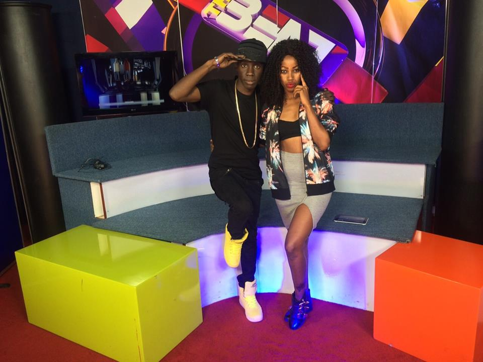 Sheebah Karungi with Douglas Lwanga recently at NTV