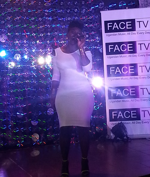 Winnie Nwanje performs at the Face TV launch
