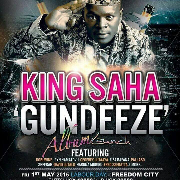 Official poster of King Saha's Gundeeze concert