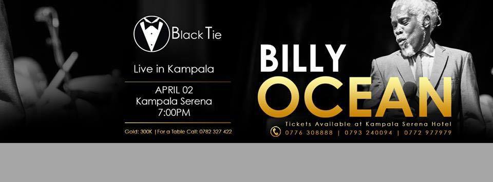 Billy Ocean live in Kampala has already gotten several fans excited