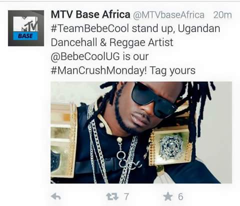 Bebe Cool praised by MTV Base Africa