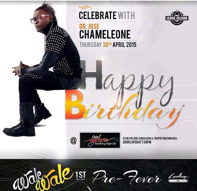 You cant afford to miss Jose Chameleone's pre wale wale concert tonight.