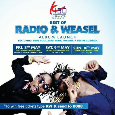 Jose Chameleone excited about the Radio and Weasel show