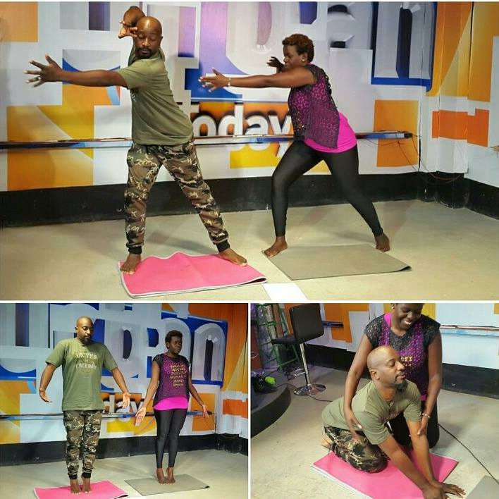 Fitclique founder Mildred Apenyo shows Gaetano how it's done