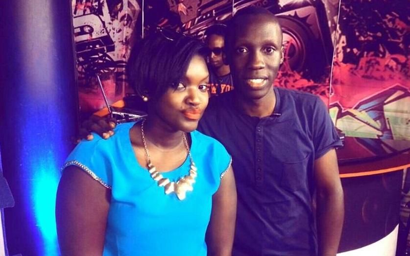 Fille with Douglas Lwanga at NTV