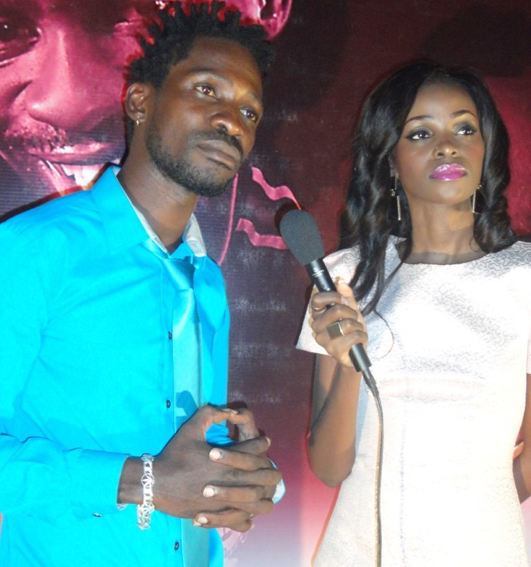 Bobi Wine With his co-star Hellen Lukoma