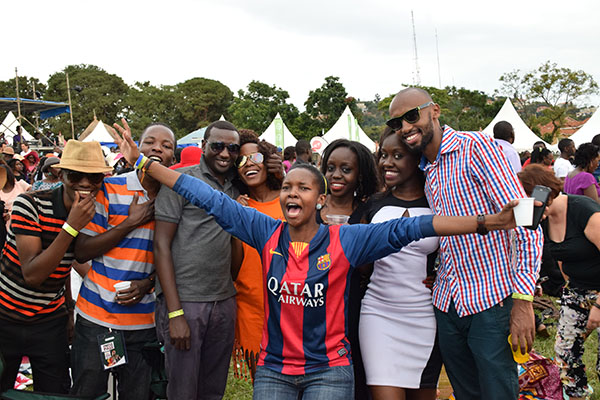 The excitement was real at blankets and wine