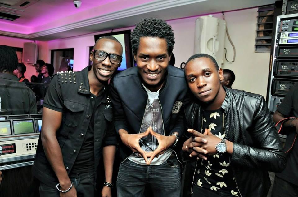 A Pass with NTV's Douglas Lwanga and a Friend