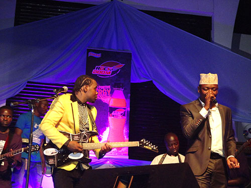 Aziz performs with Mathias Walukaga