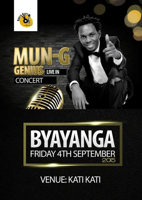 Mun G Live In Byayanga Concert Happening Soon
