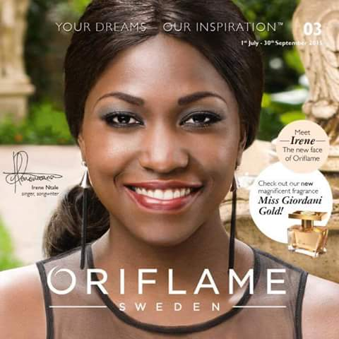 Irene Ntale the new face of oriflame