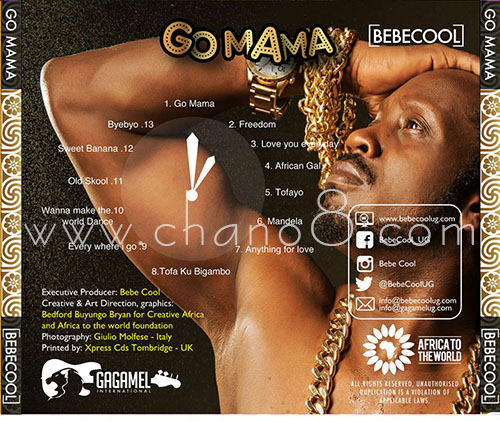 Some of the art work off the Bebe Cool's Go Mama album