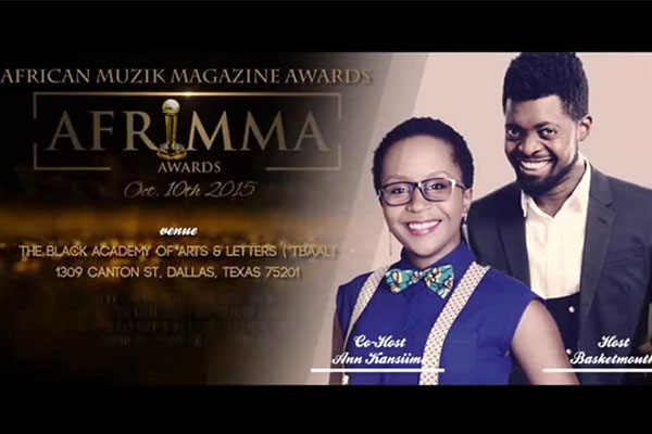 Anne Kansiime and Basketmouth will host the Afrimma awards
