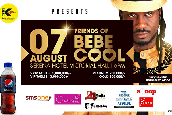 Official poster of the Friends of Bebe Cool Concert